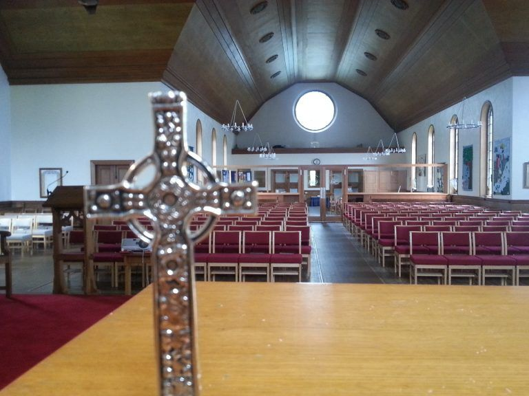 wide view of church interior