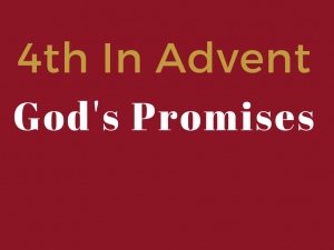 Sunday Service - 4th Sunday in Advent - God's Promises @ Church