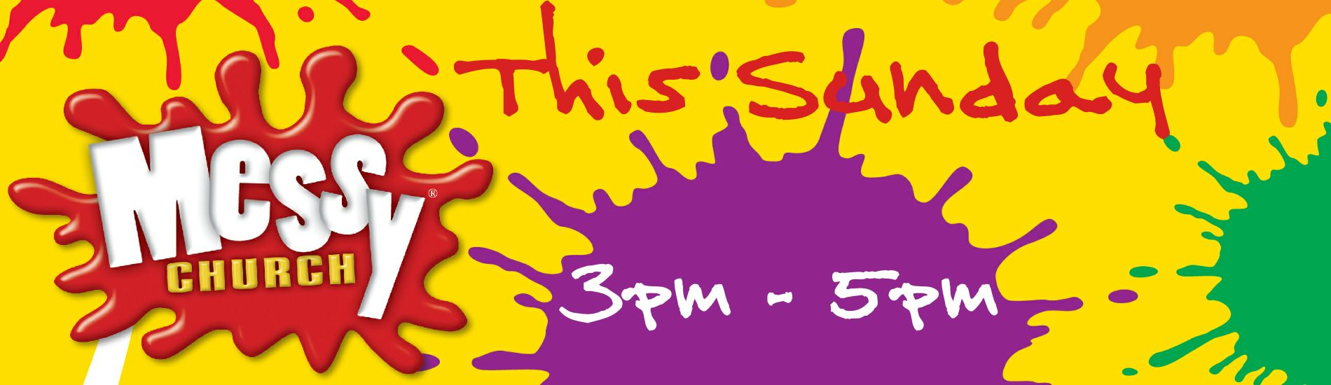 messy church this sunday website banner