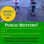 Edinburgh Playing Out – Public Meeting 7.30pm Tuesday 9 February at City Chambers, Royal Mile