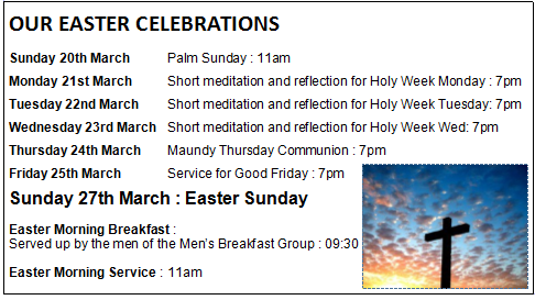 lent and easter services
