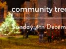 Community Tree Lighting – this Sunday at 5pm