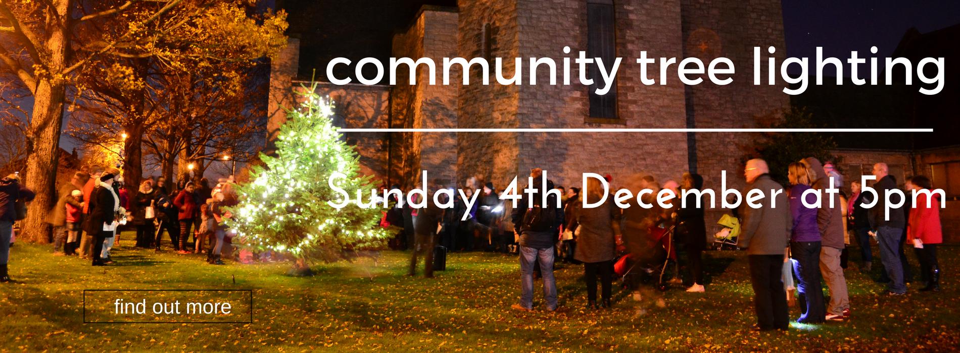 Community Tree Lighting - this Sunday at 5pm