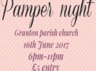 Playgroup Fundraising Pamper Night – Friday 16th June