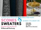 Scones & Sweaters Sale – Sat 27th Jan at 3pm