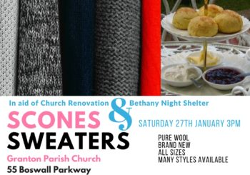 Scones & Sweaters Sale – Sat 27th Jan at 3pm