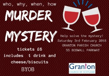 """""""There's Been a Murder"""" – Saturday 3rd February"""
