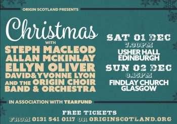 CHRISTMAS with Steph Macleod, Allan McKinlay, Ellyn Oliver, David & Yvonne Lyon in association with Tearfund (Edinburgh)