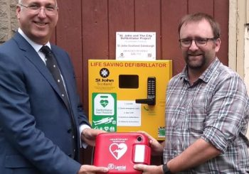 Public Access Defibrillator at church