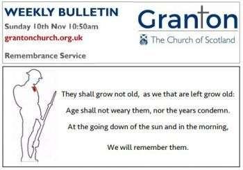 The Bulletin for Sunday 10th November 2019