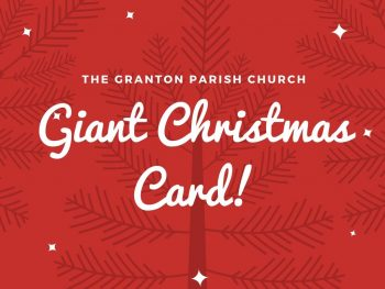 giant christmas card post image