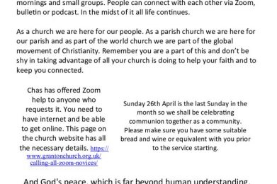 2020 04 26 – The Bulletin for Sunday 26th April 2020