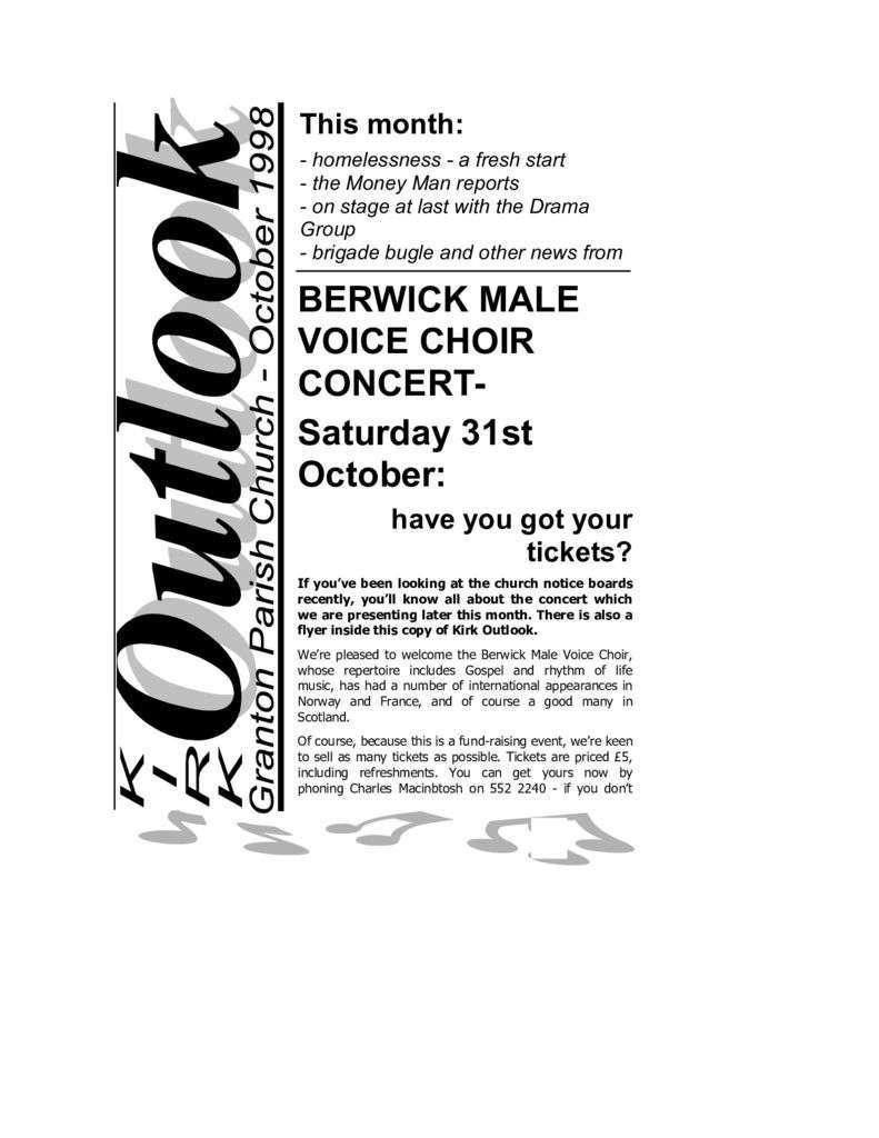 1998 Kirk Outlook – 1998 October