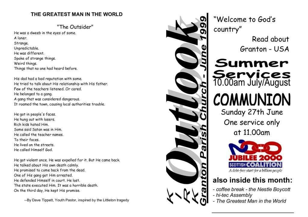 1999 Kirk Outlook – 1999 June
