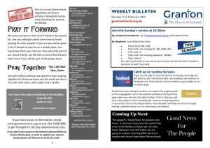 thumbnail of 2021 2 21 – Weekly Bulletin and TFTD – Sunday 21st February 2020 for print