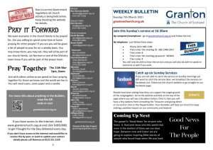 thumbnail of 2021 3 07 – Weekly Bulletin and TFTD – Sunday 7th March 2020 for print