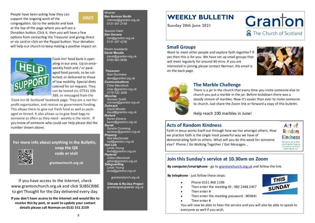thumbnail of 2021 06 20 – Weekly Bulletin and TFTD – Sunday 20th June 2021 for Print -updated-