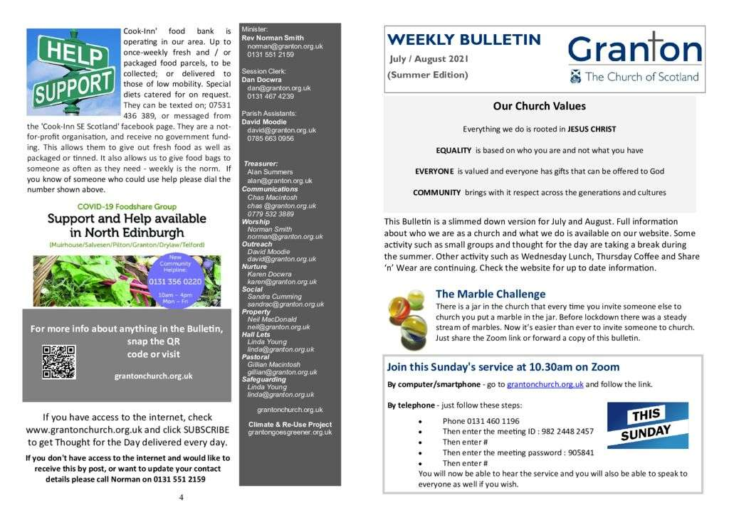 thumbnail of 2021 07 11- Weekly Bulletin – Sunday 11th July 2021 for print